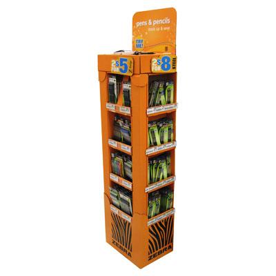 Floor display stand for pencils