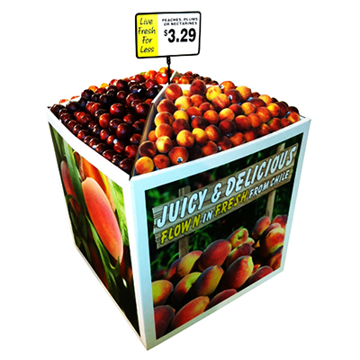 Pallet display for fruits