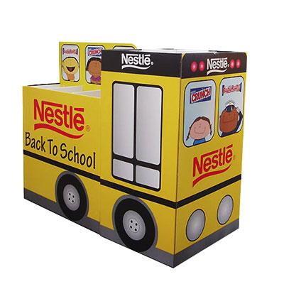 Cardboard pallet display stand for Nestle