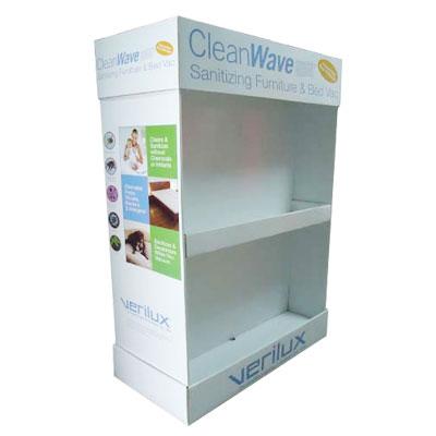 2 tiers cardboard display stand