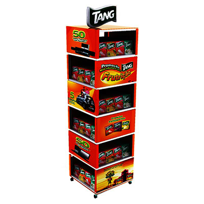 China Retail POS Cardboard Display Racks Supplier