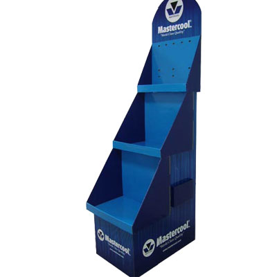 Three tiers corrugated cardboard display stands