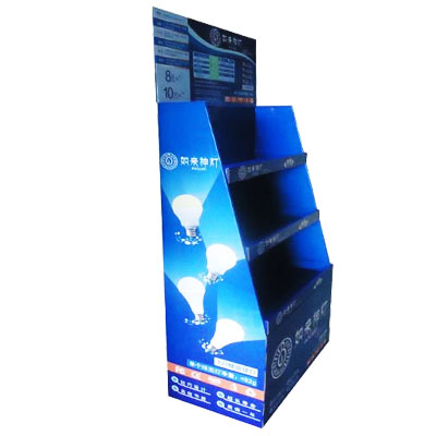 LED bulbs cardboard display stand,Shelf display stand from Shenzhen