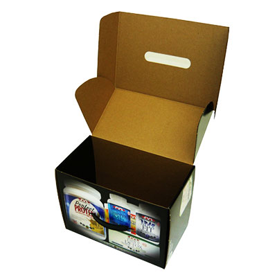 E flute packaging box with custom artwork