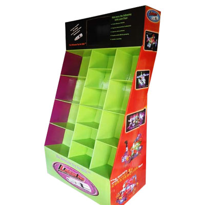 Compartment Cardboard display stand,cell merchandiser display stand