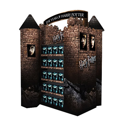 4 color printing cardboard house for movie advertising