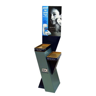 China cosmetics cardboard display stand