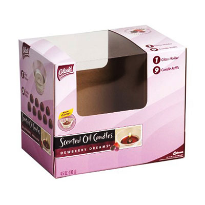 E flute cardboard packaging box with PVC window
