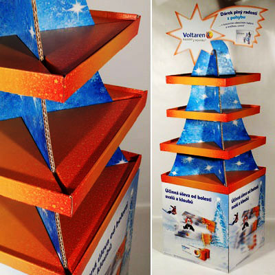 China custom cardboard display tree for stuffs promotion