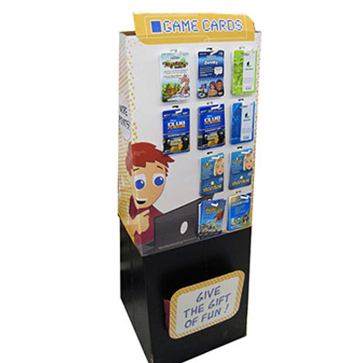 China Shenzhen Floor Display stand with Hooks for Game Cards