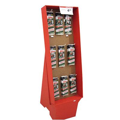 Custom Point of Sales Cardboard Hook Displays Supplier