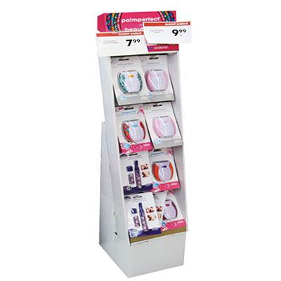 China cardboard peg hook display stand factory