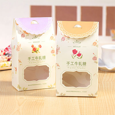 Printed cardboard box for candy promotion