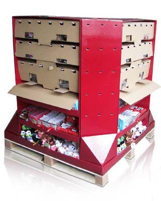 China Cardboard Pallet display Walmart Audited Australia