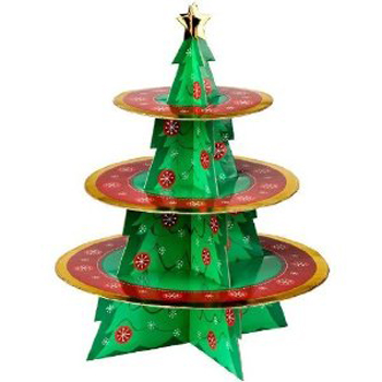 Christmas Tree Display Stand with 3 Round Trays