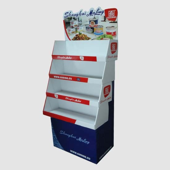 Cardboard Advertising Display Stand For Food Can