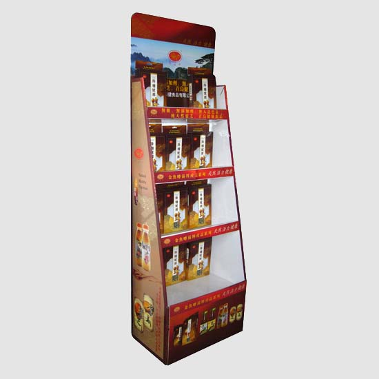 4 Tiers Cardboard Display Stand with Custom Branding